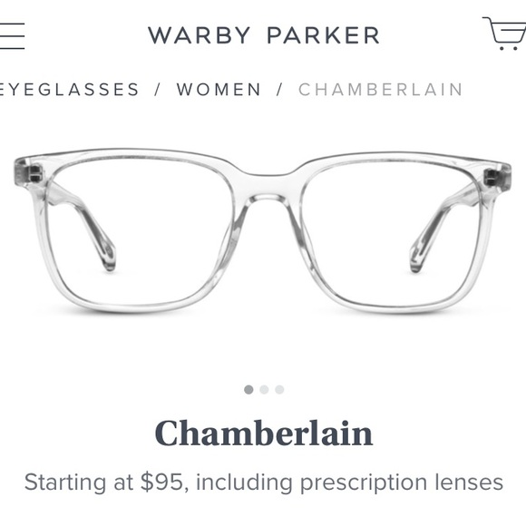 05b9dfb766a2 Warby Parker Chamberlain Crystal clear eyeglasses.  M 5aa68b27b7f72b3715f3d415. Other Accessories ...